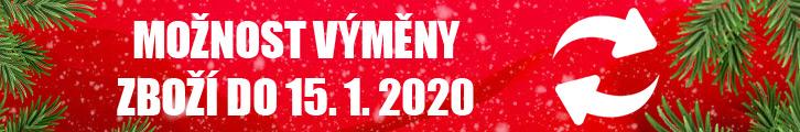 Výmena zboží do 15.1.2020