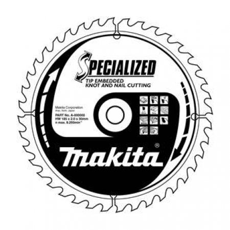 Pilový kotouč Makita Specialized se zapuštěnými hroty