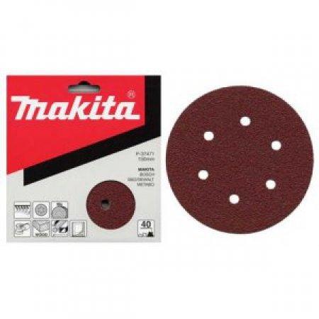 Brusné papíry Makita 150mm, 6 otvorů /bal.50ks/